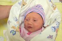 NATÁLIE BAŠTOVÁ z Nelahozevsi se narodila 14. listopadu 2018. Vážila 2,8 kg a měřila 45 cm. Rodiče jsou P. a M. Baštovi.