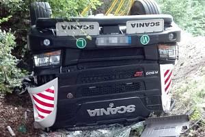 Nehoda u obce Tupadly 19. srpna 2019.