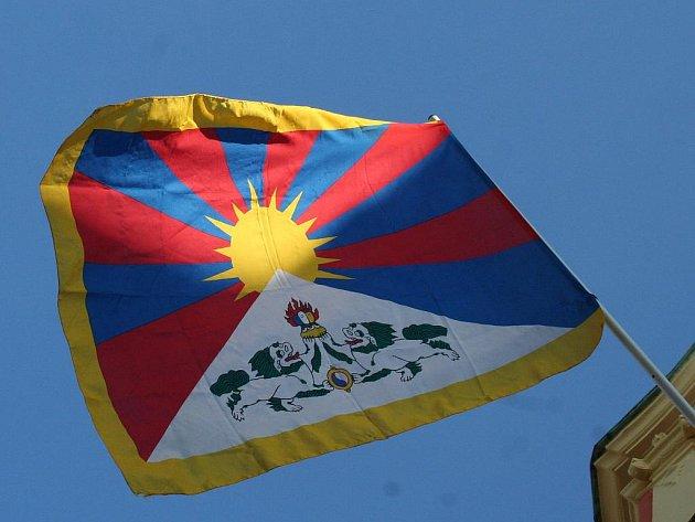 Tibetská vlajka. Ilustrační foto