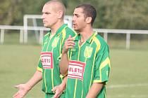 I. B třída: FC Mělník - Lužec (v zeleném)