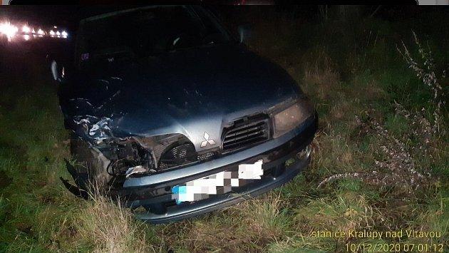 Nehoda uVeltrus na Mělnicku.