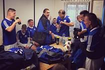 ZAKŘIČELI SI. Fotbalisté libišského béčka vyhráli jedinou brankou ve Všestudech. Podle jejich trenéra podali vůbec nejlepší podzimní výkon.