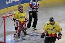 Z utkání 2. hokejové ligy Litoměřice - Mělník (4-5PP)