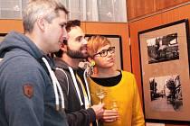 Vernisáž výstavy fotografií Marka Havlíčka byla spojená s křestem jeho knižní prvotiny.
