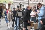 Filmaři natáčeli v Mělníku jeden z dílů cyklu České televize Ach, ty vraždy!