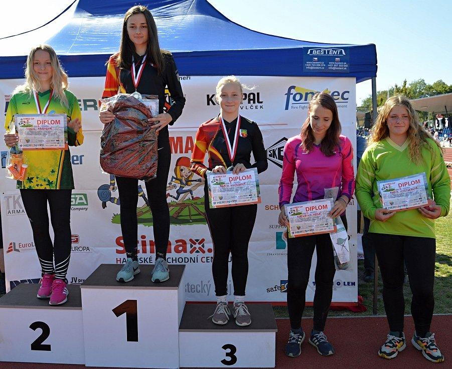 Johanka Vaculíková na 1. místě v soutěži Stimax cup.