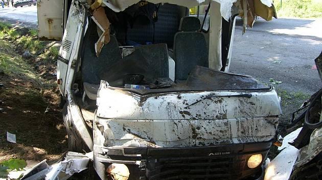 Srážka tří automobilů u Borku