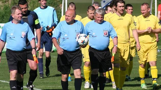 TJ Kly - FK Pšovka Mělník B (2:3 po PK); 25. kolo okresního přeboru; 10. května 2015