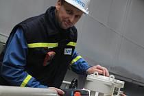 Strojní technik Petr Koutecký.