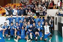 Volejbalisté Odolena Vody se svými fanoušky v zádech vyhráli jako první v sezoně na půdě liberecké Dukly.