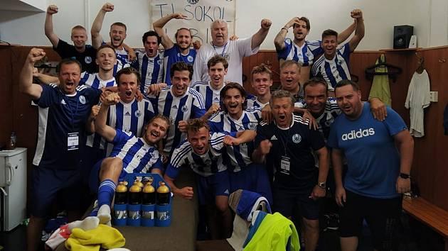 Fotbalisté Sokola Libiš po vítězství 4:0 nad Letohradem v úvodním kole nového ročníku divize C