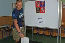 Volební místnost -  Dvořákovo gymnázium a Střední odborná škola ekonomická v Kralupech nad Vltavou