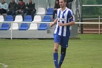 Řepín (v modrém) - FC Mělník, 22. kolo I. B třídy, 18. května 2014