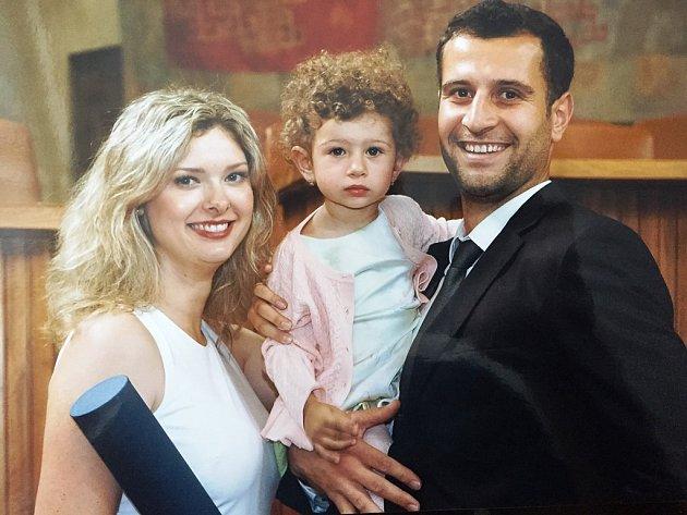 Tomáš Gospodinov s manželkou Vandou a dcerou Stelou