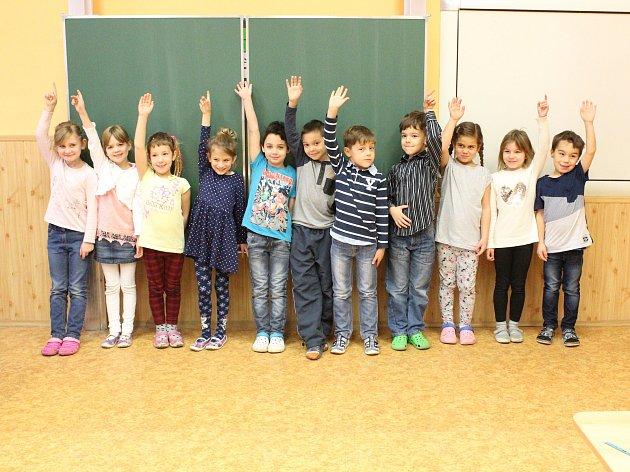 Žáci 1.třídy ZŠ Cítov třídní učitelky Marcely Mlejnkové.