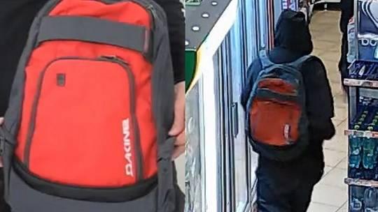 Kriminalistům se podařilo ustanovit batoh, který měl jeden z pachatelů v době přepadení. Jedná se o batoh značky DAKINE, v kombinaci červené a šedé barvy, s bílým nápisem ve spodním pravém rohu vnější kapsy.