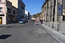 Palackého ulice v Kralupech nad Vltavou
