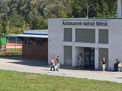 Autobusovové nádraží v Mělníku. Ilustrační foto.