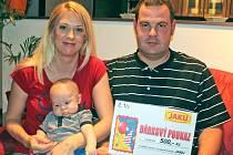 Aleš Purma se rodičům Tereze a Alešovi narodil 5. září 2015.