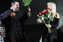 Roxy Sadirová s ředitelem neratovické ZUŠky Jaroslavem Zikmundovským na Svátku tance 2013.