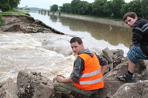 Povodně v Hoříně v roce 2013.