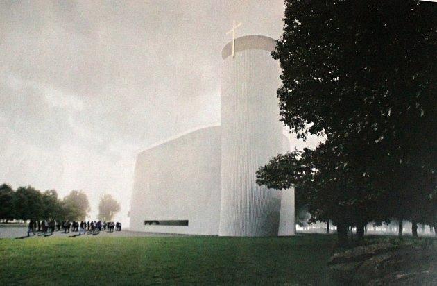 Vizualizace libišského kostela.