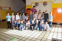 První třída v Základní škole Lužec nad Vltavou paní učitelky Jany Vaňkové.