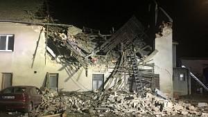 Exploze v bytovém domě v Tursku 28. října 2020