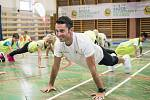 Žáci ze Základní školy J. Matiegky Mělník absolvovali v rámci Sazka olympijského víceboje trénink s olympionikem Jiřím Ježkem.