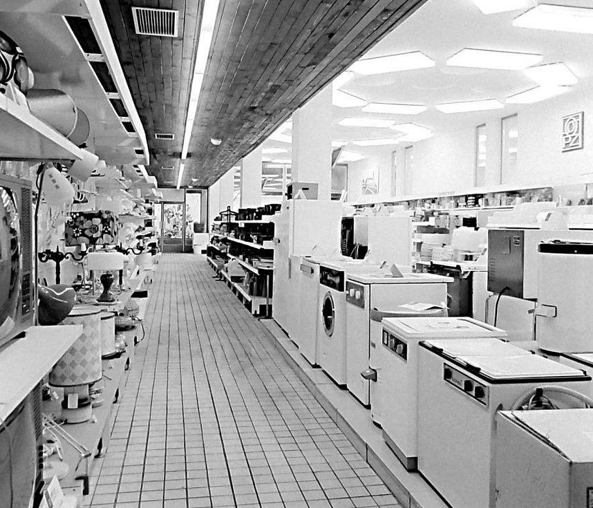 Sortiment průmyslového zboží v 80. letech minulého století.