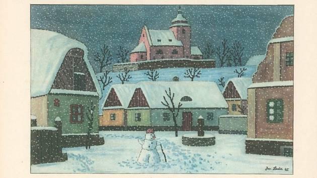 Báseň ze sbírky Chlapec a hvězdy Jaroslava Seiferta s obrázky Josefa Lady