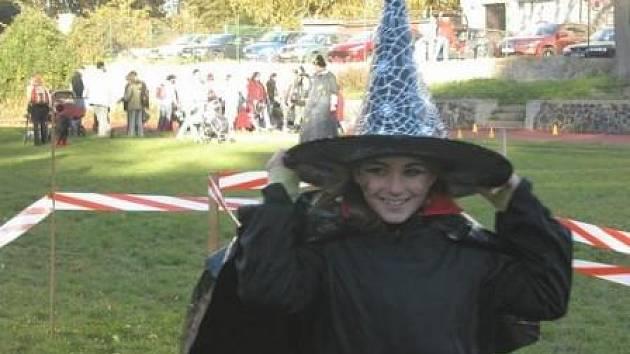 Většina dětí přišla na akci v nápaditých strašidelných maskách.