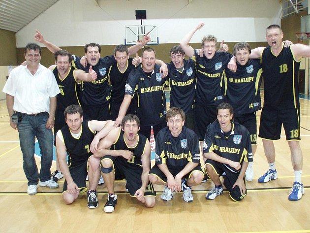 Basketbalisté BK Kaučuk Kralupy vybojovali postup do II. ligy