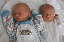 Kryštof a Matyáš Krejčíkovi se rodičům Lucii a Marianovi z Mělníka narodili v mělnické porodnici 29. září 2014. Kryštof vážil 2,47 kg a měřil 48 cm a Matyáš vážil 2,42 kg a měřil 47 cm.