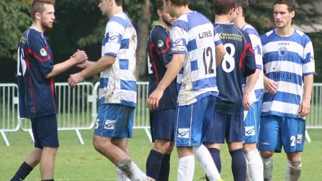 Sokol Libiš - FK Neratovice/Byškovice (v tmavém); 6. kolo divize B; 13. září 2014