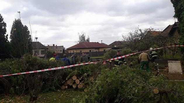 Vichřice ve středních Čechách