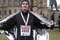 JAROSLAV HEJSEK po doběhu svého prvního oficiálního půlmaratonského závodu.