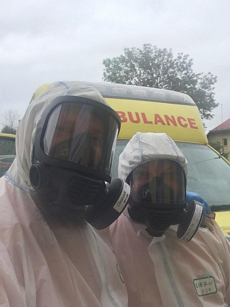 Středočeští záchranáři vdobě koronaviru.