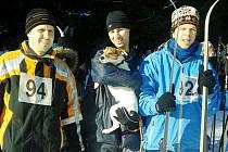 Mentálně postižení sportovci z SK Pojďte dál bojovali na sněhu sami se sebou i se soupeři.