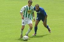 Z utkání 26. kola divize B Bohemians 1905 B - Libiš (0:1).