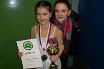 Kateřina Hospodková se svou trenérkou Kristýnou Havránkovou.