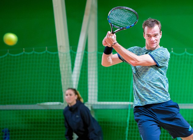 Jan Šátral během turnaje Czech Republic F8 Futures vOpavě (2017).