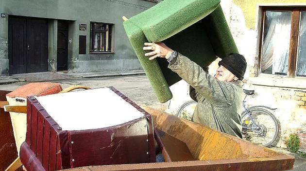 Svoz velkoobjemového odpadu ve Mšeně