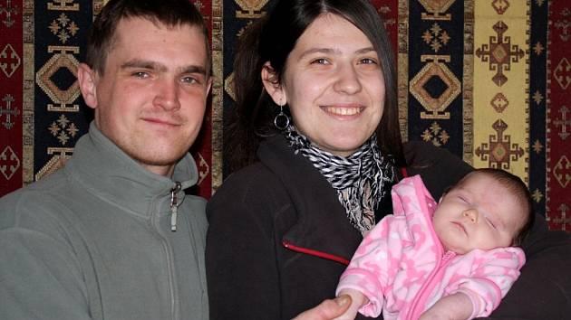 Martin Vihan, Martina Landová a jejich dcera Terezka Landová.