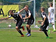Libišský Marek Malák slaví gól, kterým přispěl k obratu utkání s Klíčany.