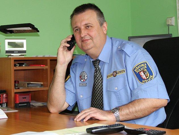 Ředitel Městské policie Mělník Ladislav Hošmánek.