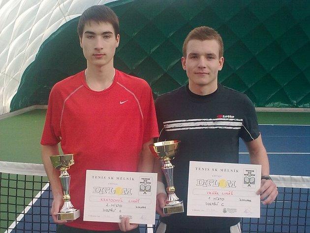 FINALISTÉ  celostátního turnaje mužů v Mělníku – Lukášové Kratochvíl (vlevo) s Vrňákem.