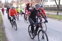 V Kralupech konala tradiční novoroční vyjížďka tamních neorganizovaných cyklistů.