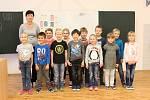 Žáci 1. třídy ZŠ Chlumín, třídní učitelka Věra Hloušková