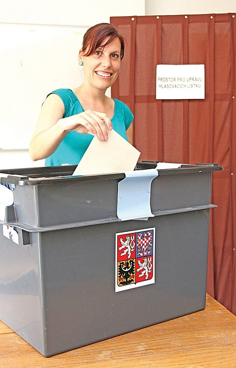 Volby do evropského parlamentu v boreckém Volnočásku.